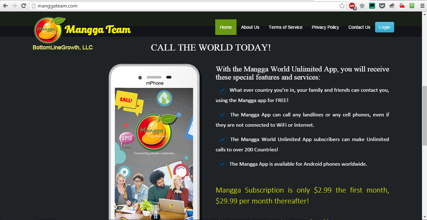 ManggaTeam Homepage - Fully Responsive using Bootstrap